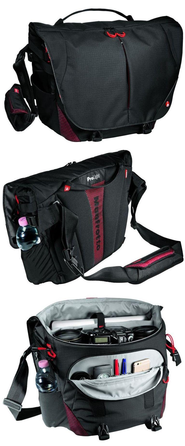 Black Manfrotto Bumblebee M-30 Pro Light Messenger Bag for DSLR Camera