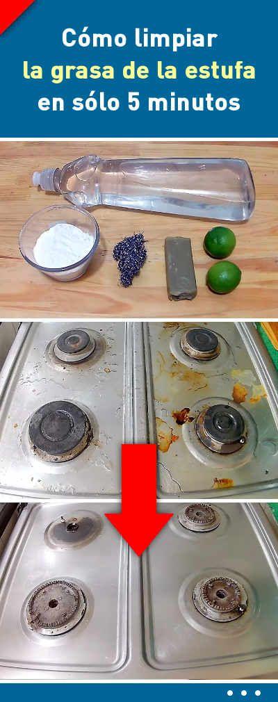 2 trucos sencillos para limpiar la grasa de la estufa en s lo 5 minutos limpiadores de casa - Limpiar quemadores cocina gas ...