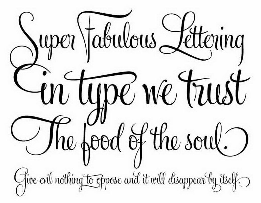 Simple Cursive Tattoo Fonts