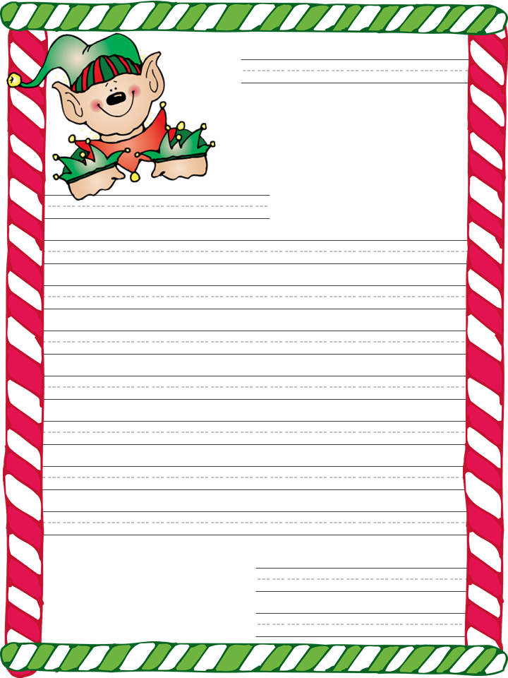 Christmas Letter Template. Christmas Card List Printable Pdf By ...