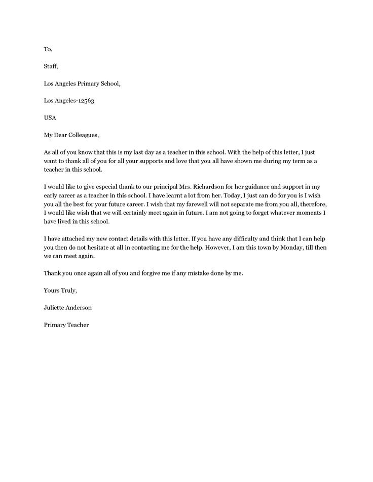 Sample Farewell Letter To Coworkers from i.pinimg.com