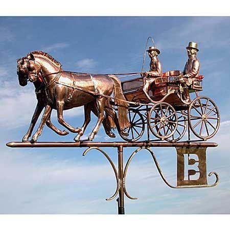 Horse And Buggy Weather Vanes Weathervanes Wind Vane