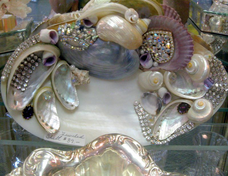 Mix of jewels and shells via: