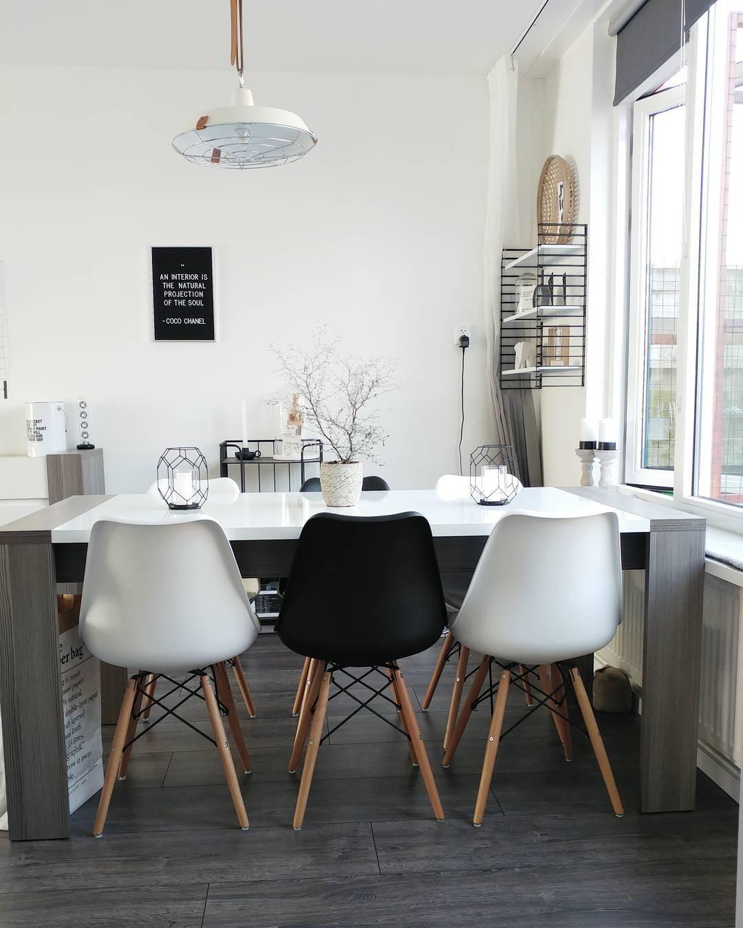 Die Buchstabentafel Letterboard Black Sorgt In Diesem Wunderschönen  Esszimmer Im Monochrome Look Für Den Trend Faktor. So Stylisch! // Esszimmer  Schwarz ...