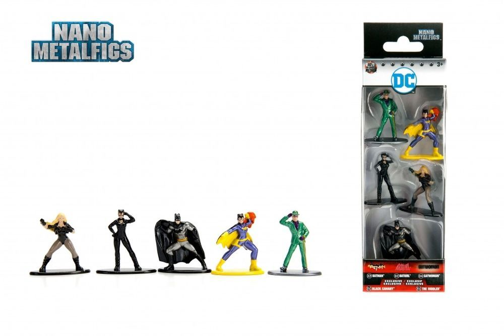 DC-Pack de 5 Nano metalfigs Black Canary Die-Cast Characters