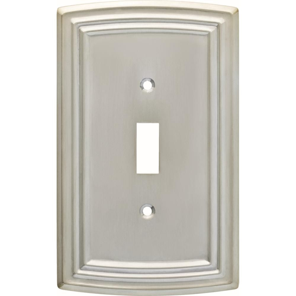 Liberty Nickel 1 Gang Toggle Wall Plate 1 Pack W36396 Sne C The Home Depot Plates On Wall Light Switch Covers Switch Covers