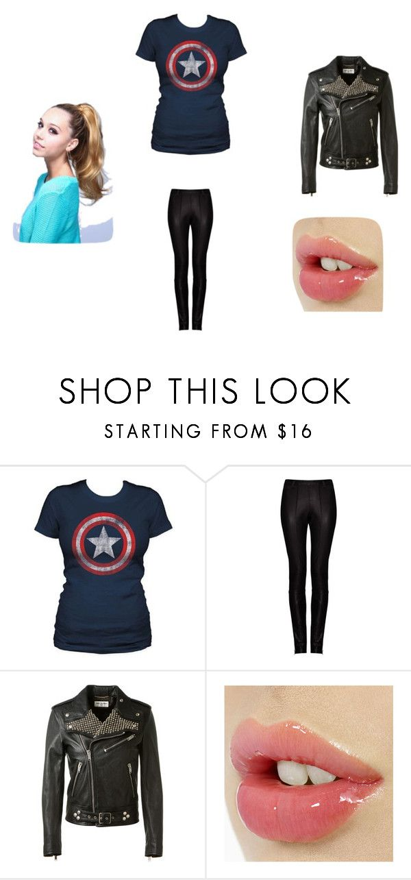 """Lexi going to get Captain America"" by calvinhobbesgirl ❤ liked on Polyvore featuring Kalda, Yves Saint Laurent, women's clothing, women, female, woman, misses and juniors"