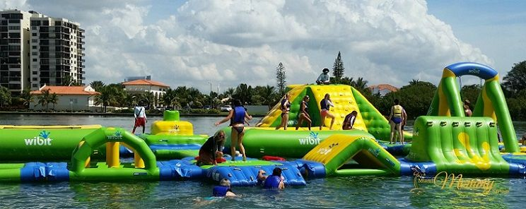 Family Fun Day At Jungle Island S New Floating Water Park Jungleislandadventure Smday Cleverly Me South Florida Lifestyle Blog Miami Mom Blogger Water Park Floating In Water Visit Florida