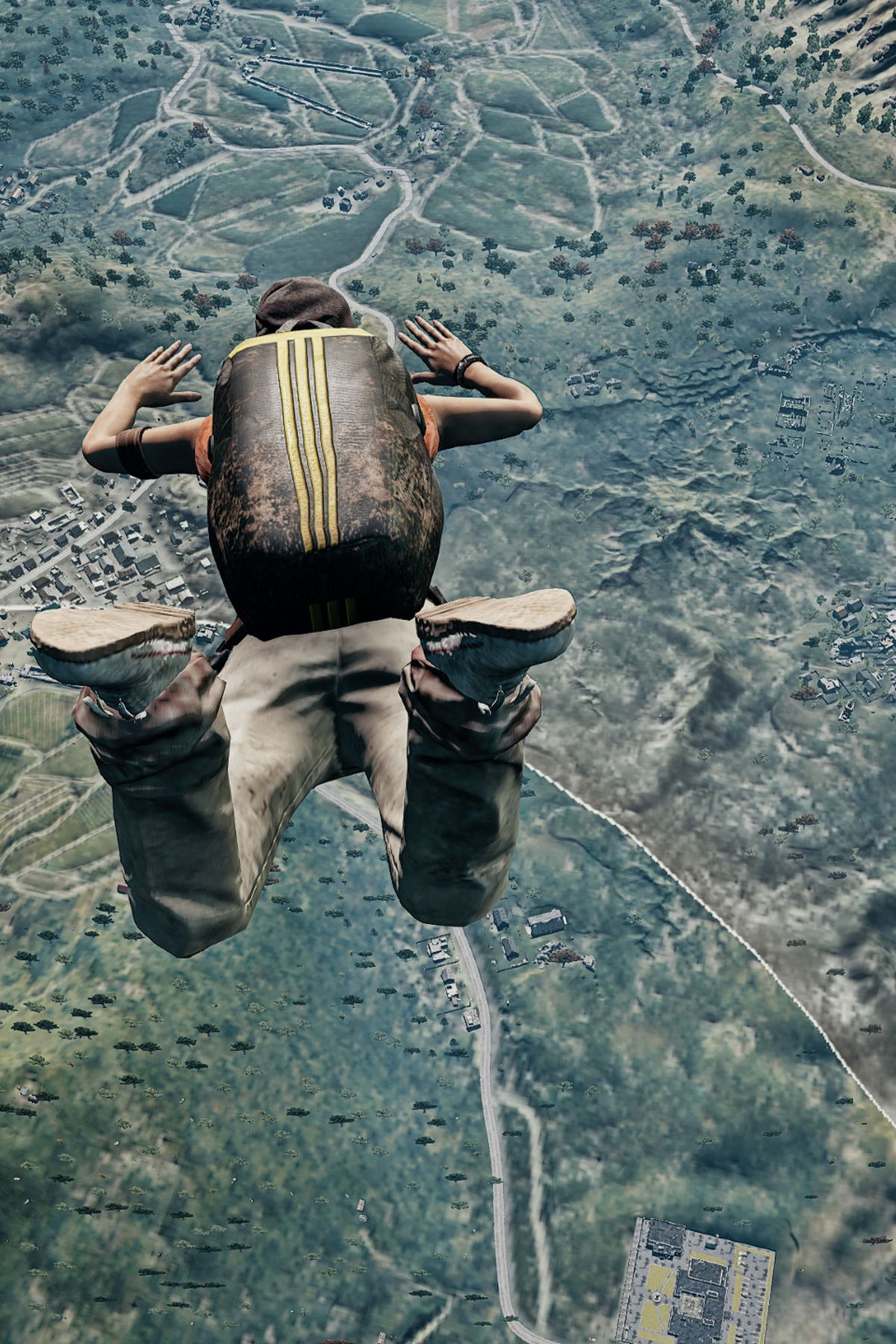 PUBG player jump from plan for fighting mobile wallpaper – Pubg Memes | Free Download