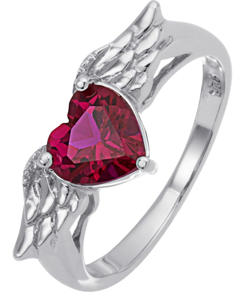 3bdec141f Buy Sterling Silver and Created Ruby Wings Heart Ring at Argos.co.uk - Your  Online Shop for Dress rings.