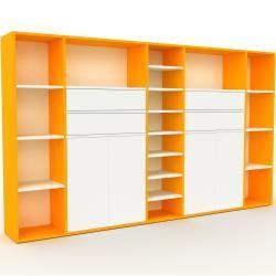 Photo of Regalsystem Gelb – Regalsystem: Schubladen in Weiß & Türen in Weiß – Hochwertige Materialien – 267 x