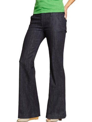 e620022ce4 Old Navy Womens Wide Leg Trouser Jeans - Old Navy Button closure and zip  fly Slant pockets in front; patch pockets in back