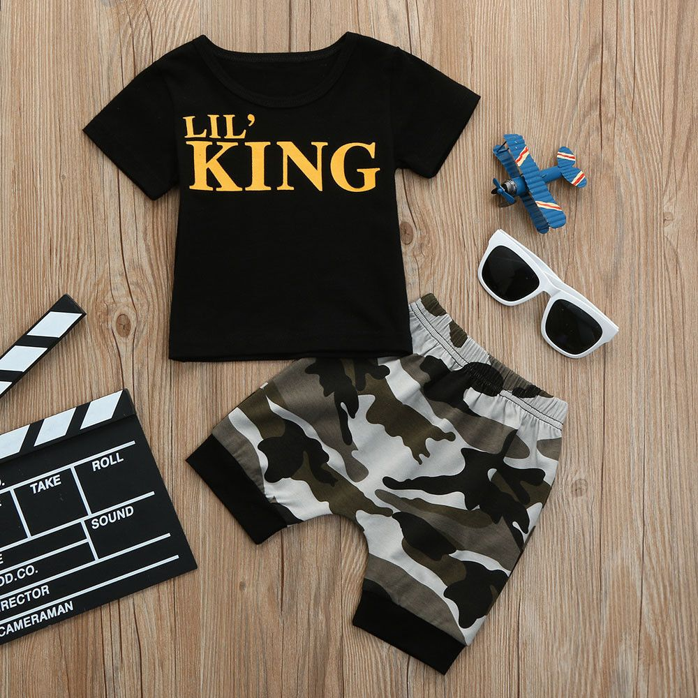 877836a7bcb1 2018 new summer children boys clothes kids short t shirt cool t shirt  letter top camouflage