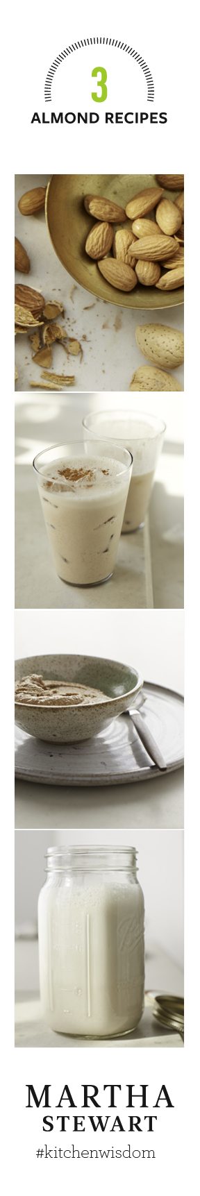 How to Make Homemade Almond Butter, Almond Milk and Almond Cinnamon Frappé