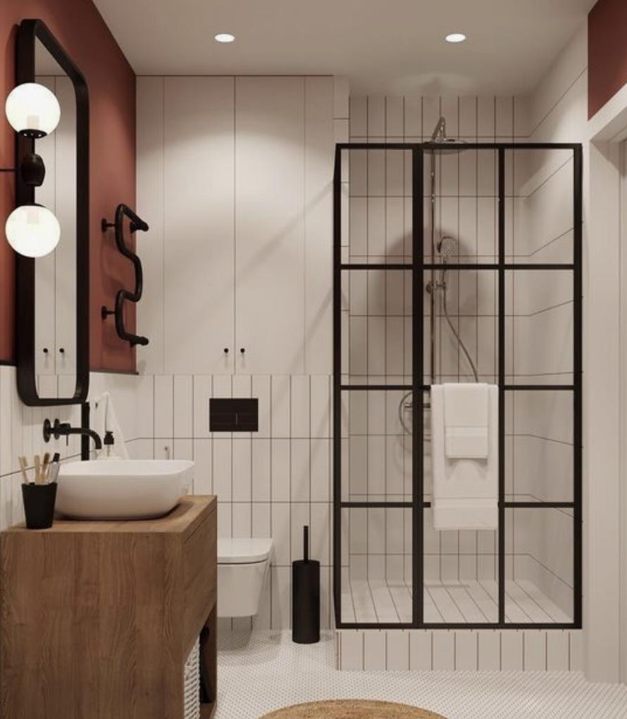 Une salle de bain terracotta en 17  Salle de bain, Couleur