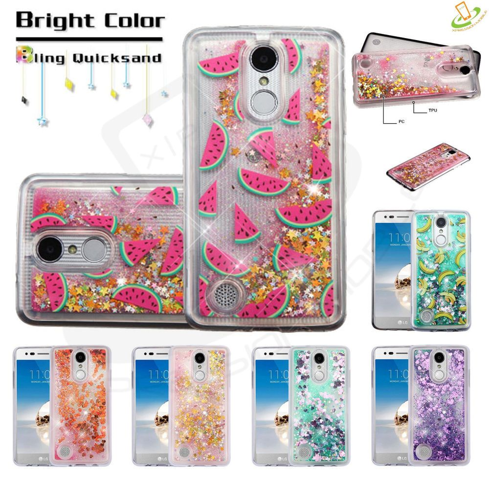 best service d37b7 fa3a2 LG X Charge Bling Hybrid Liquid Glitter Quicksand Rubber Protective ...