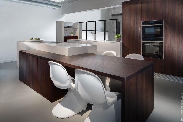 Cuisine bois et blanc moderne \u2013 25 idées d\u0027aménagement Mixers