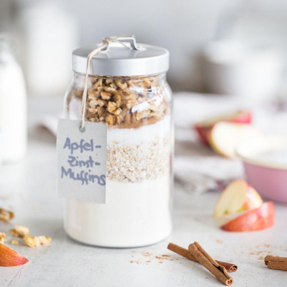 Saftige Apfelmus Muffins Mit Zimtzucker Apfel Zimt Muffins Kulinarische Geschenke Selbst Zubereiten Backmischung Im Glas