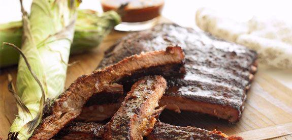 Sandra Lee Smoked Spareribs with Backwoods BBQ Sauce- Smoked Spareribs with Backwoods BBQ Sauce