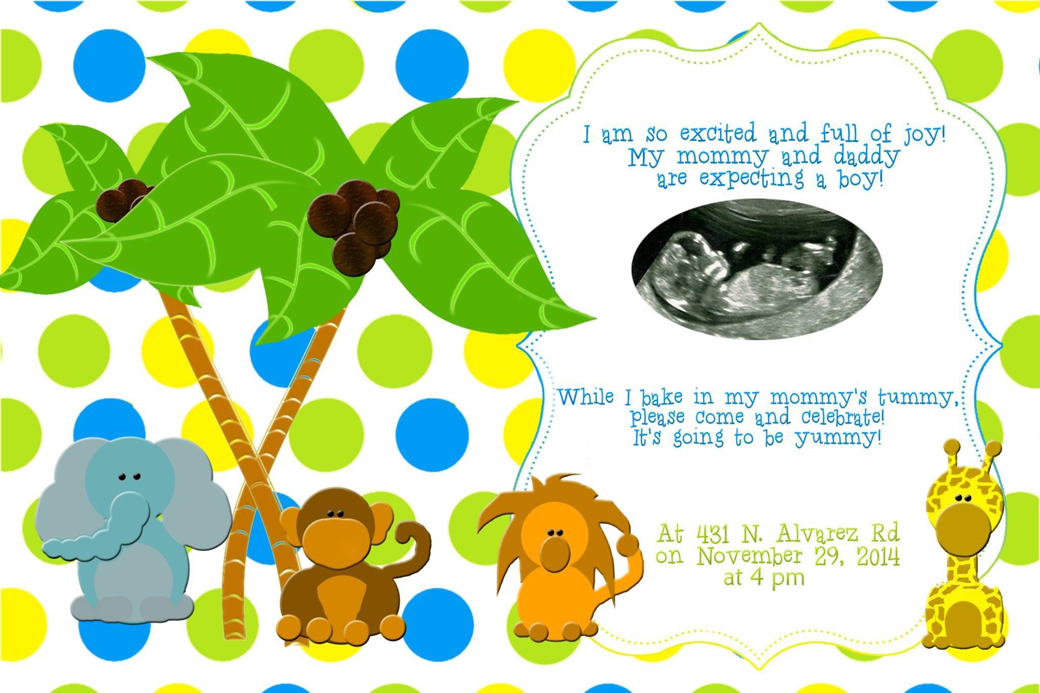 Baby Shower Invitation It's a boy!