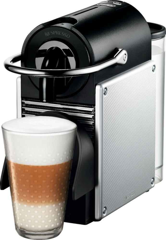 DeLonghi - Nespresso Pixie Coffee Maker and Espresso Machine by De'Longhi - Electric aluminum