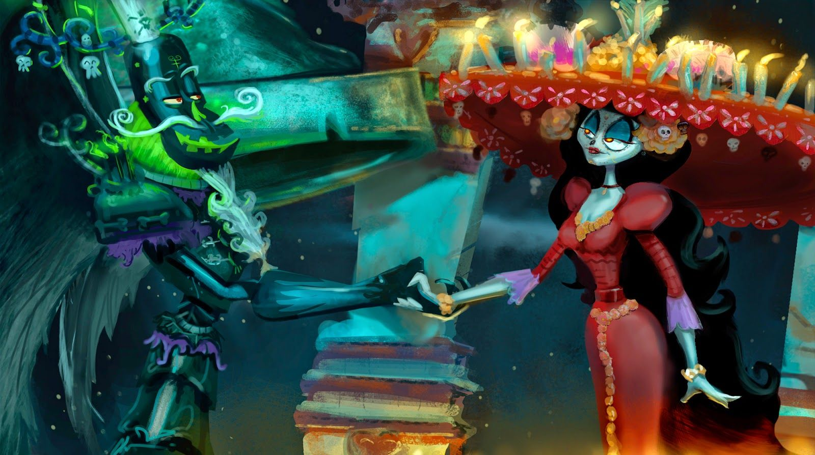 The Book of Life- One of my lighting key paintings for the feature animated film!