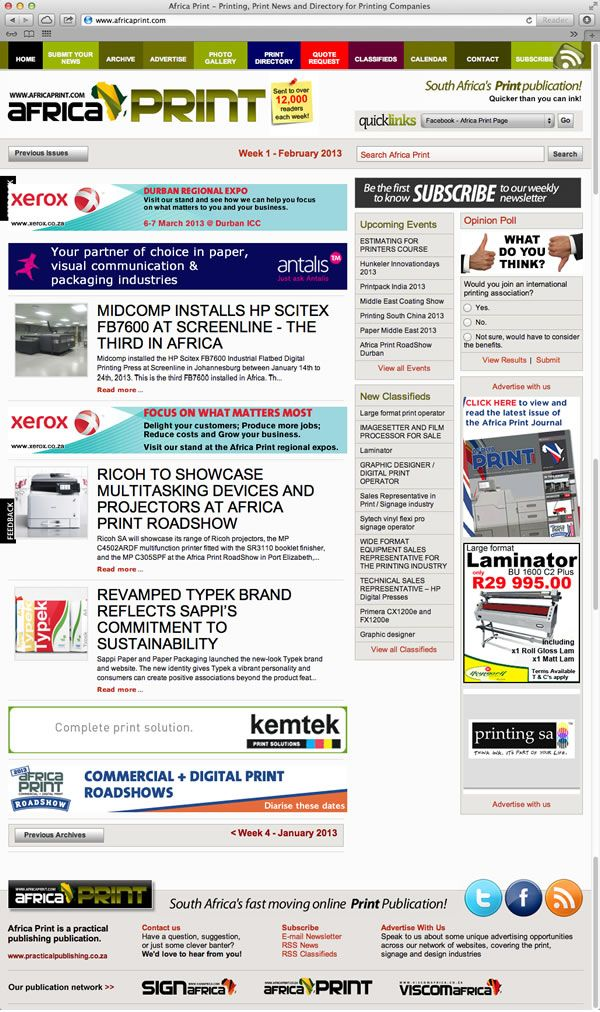 Africa Print Visual Communication Printing Companies Website Design