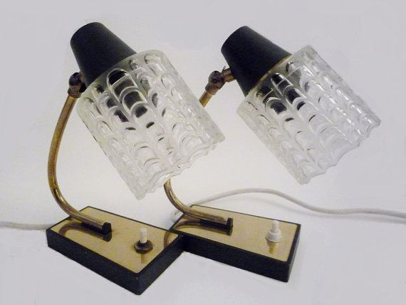 Pair of Mid Century Bedside Lamps by oppning on Etsy, €105.00