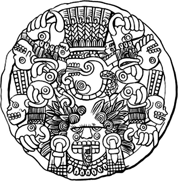 Pin By Bulkcolor On Aztec Coloring Pages Aztec Art Mayan Art Aztec Tattoo