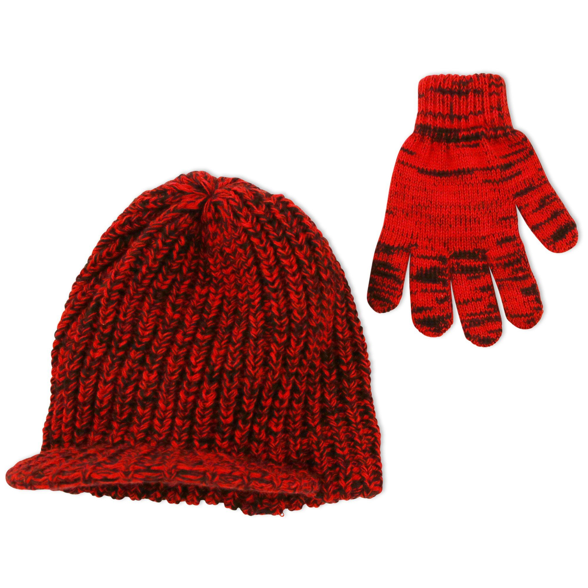 4a3cfc96d43 ABG Accessories Big Boys Marled Knit Radar Cap with Matching Magic Gloves