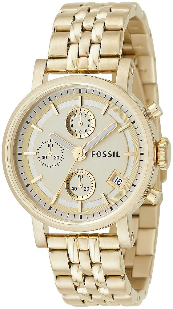 171e993df652 Fossil Unisex ES2197 Chronograph Gold Tone Watch