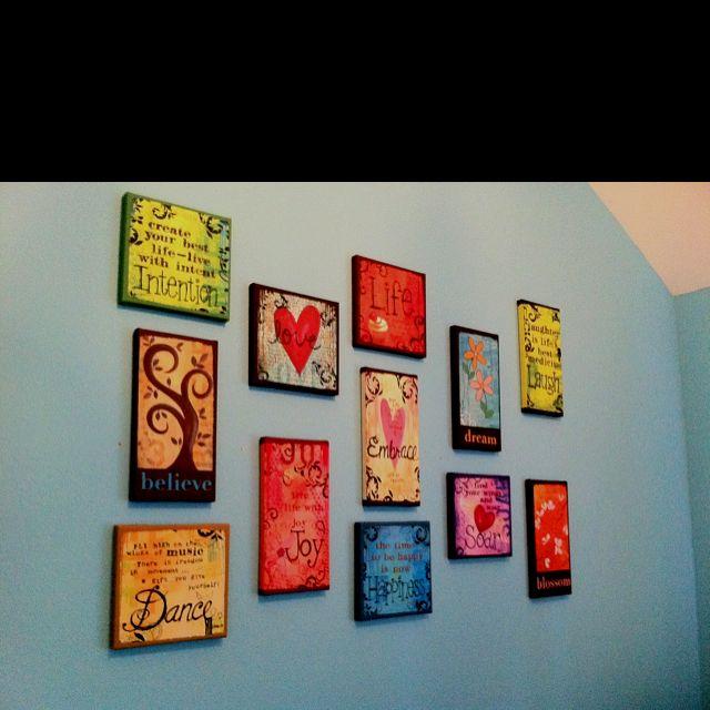 Taylors new wall arrangement.