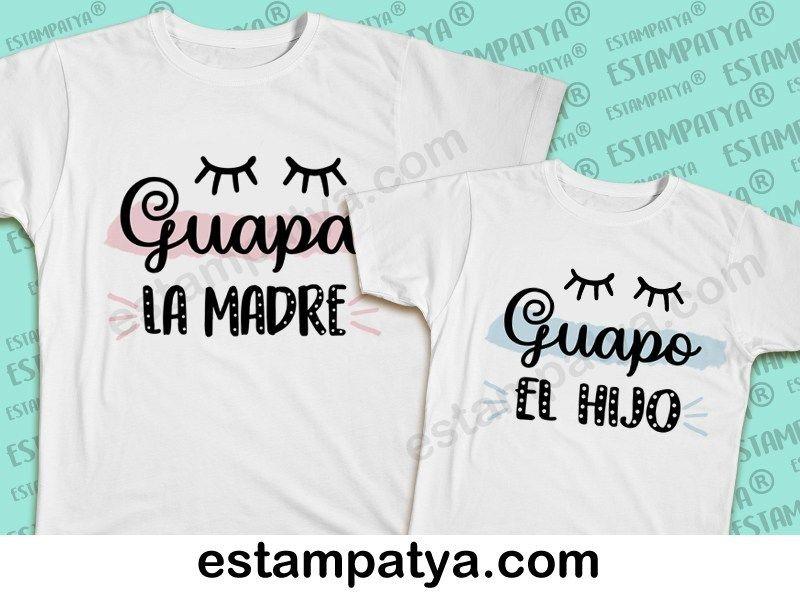 Camisetas Madre E Hijo Guapos Regalos Personalizados