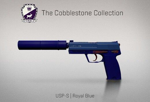 1e8af4bf3 Counter-Strike Global Offensive: The Cobblestone Collection: USP-S Royal  Blue
