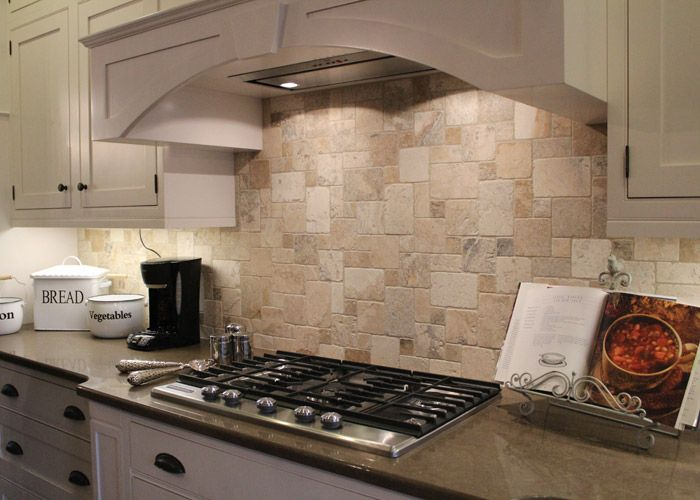 Best tile inspiration roomscene gallery philadelphia beige travertine backsplash kitchen - Backsplash designs travertine ...