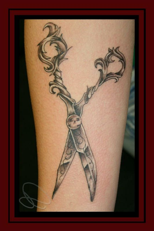 Cosmetology Tattoos Designs Ideas And Meaning: Shears -Scissors- By ~theJorell On