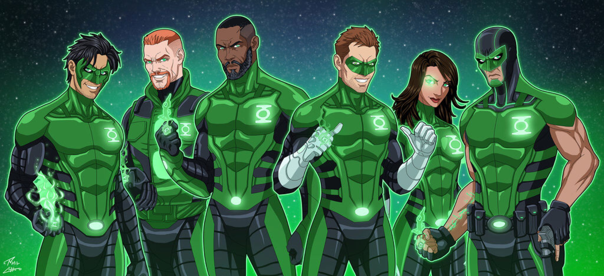 Green Lantern Corps (Earth-27) by phil-cho on @DeviantArt | Green ...