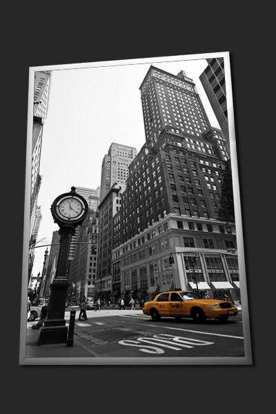 tableau moderne taxi jaune de new york photos encadr es cadre photo