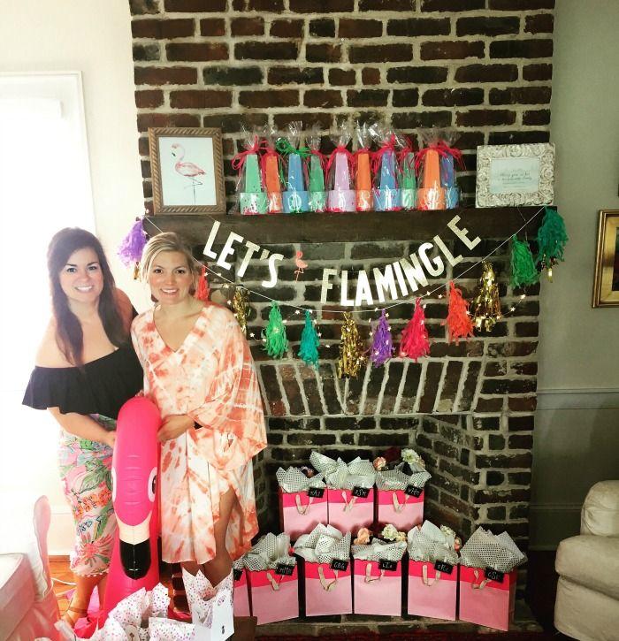 Pre Wedding Party Ideas: PJ's Flamingo Themed Bachelorette Party