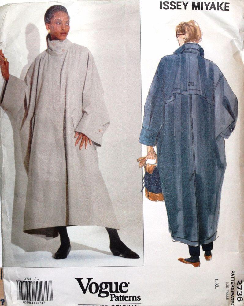 Vogue Pattern 2736-Issey Miyake Designer Original Oversize Coat ...