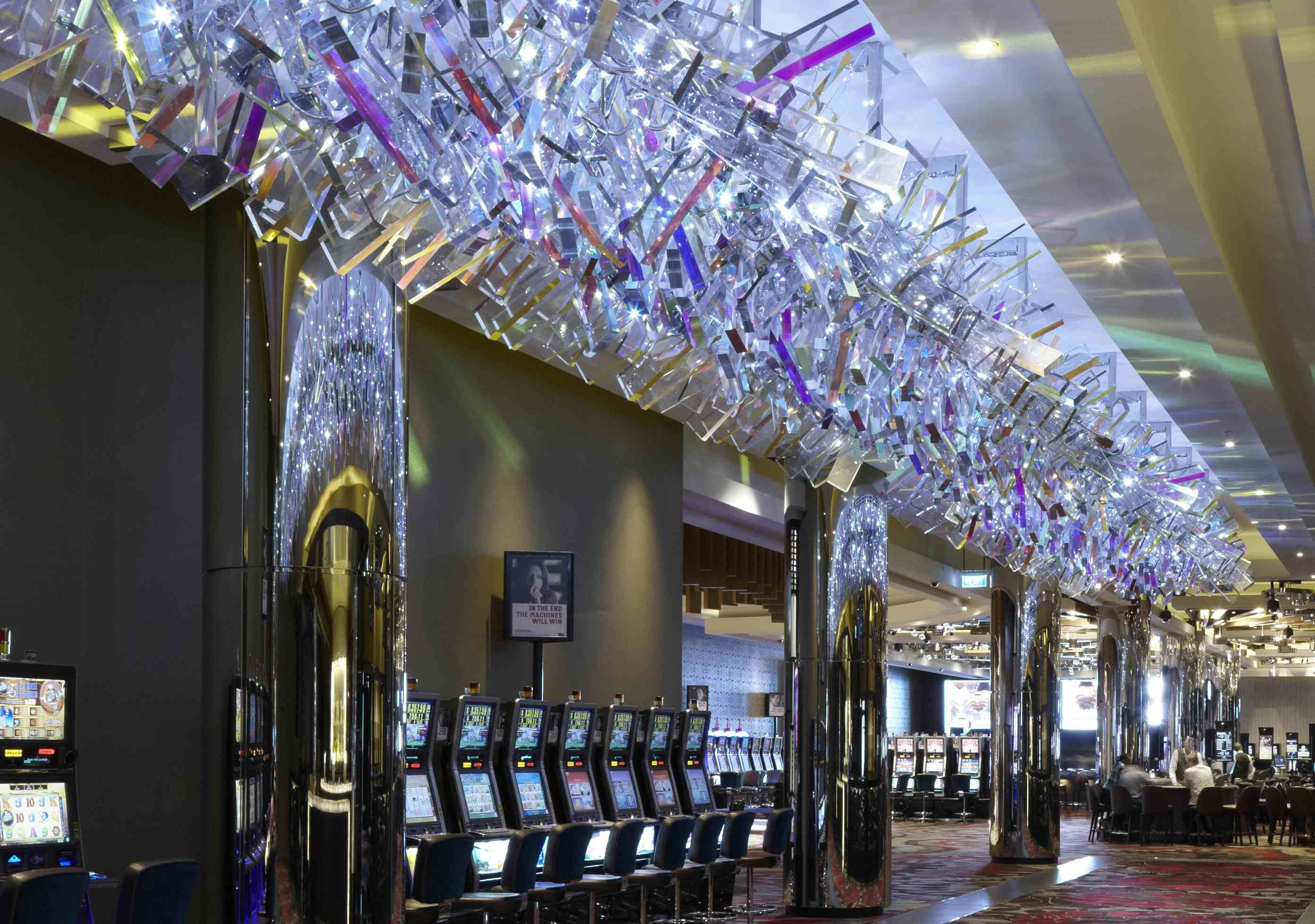 This 90 Ft Long 5 Ton Chandelier Is Located At The Crown In Melbourne Australia