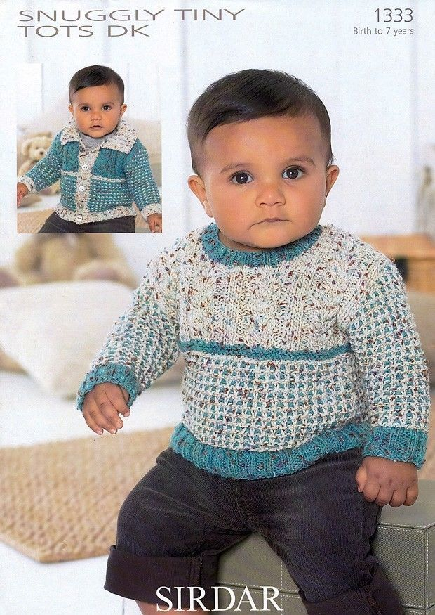 Sirdar Snuggly Tiny Tots Dk Knitting Pattern For Sweater 1333