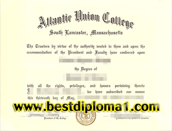 Atlantic Union College degree sample, Buy a certificate of the