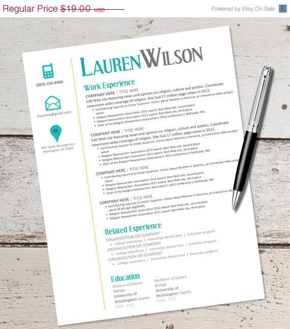 GRAD SALE INSTANT Download - Resume Design Template - Microsoft - resume template for microsoft word