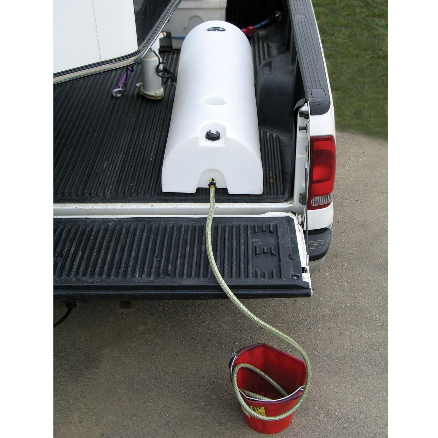 An easy way to haul water in your truck or trailer. Do