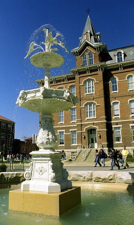 Purdue University West Lafayette John Purdue Memorial Fountain