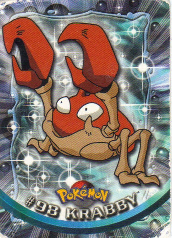 98 krabby pokemon trading card 1999 series 2 topps