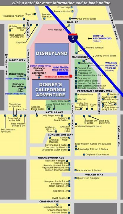 Map Where To Stay In Disneyland