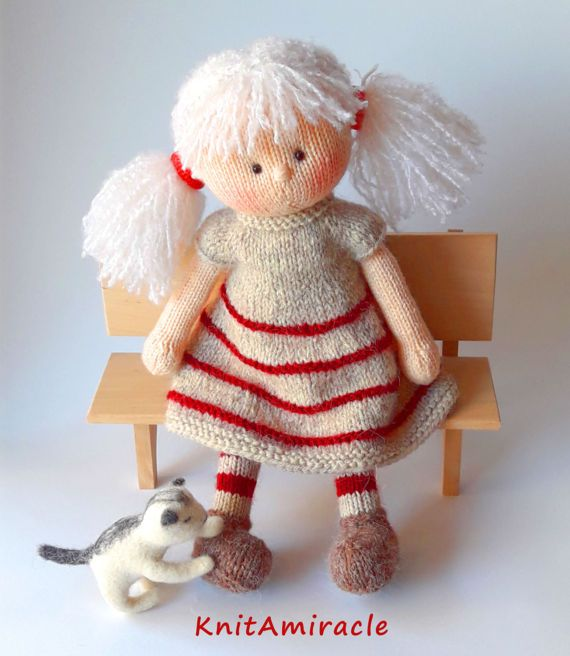 Knitting Pattern doll PDF Knitted Doll pattern Knitting pattern toy DIY knitting Gift for Girl Soft knitted toy Maggie, the Magic Doll #knitteddollpatterns