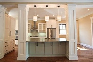 Houzz Kitchen Islands With Columns Contemporary Eclectic Modern